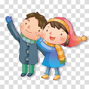 Male And Female Friends transparent background PNG cliparts.