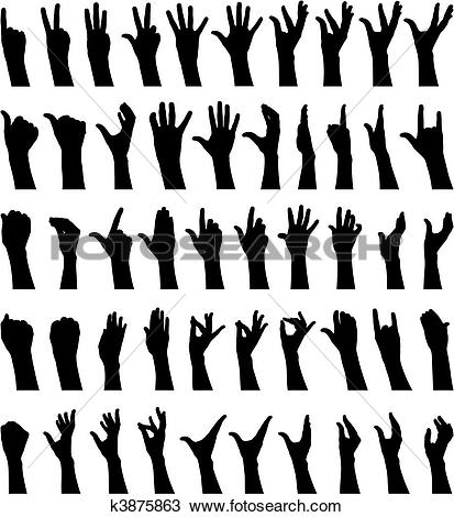 Clipart of Female hands k3875863.