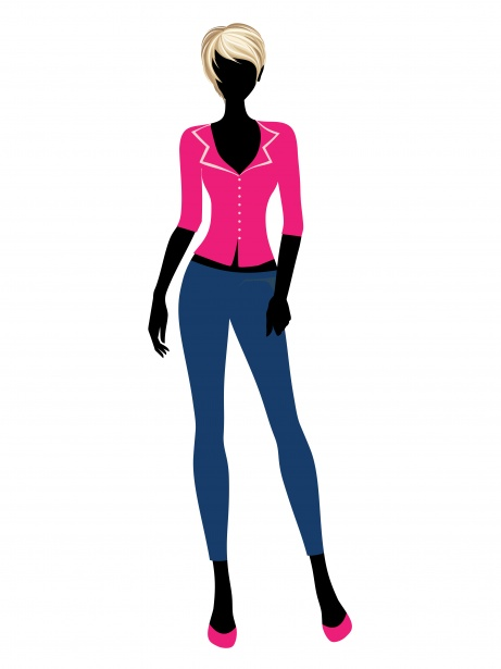 Woman Model Fashion Clipart Free Stock Photo.
