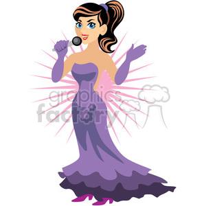 female singer clipart. Royalty.