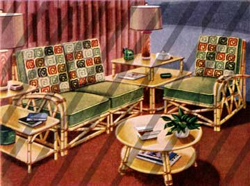 Vintage Bamboo Furniture 1940s.