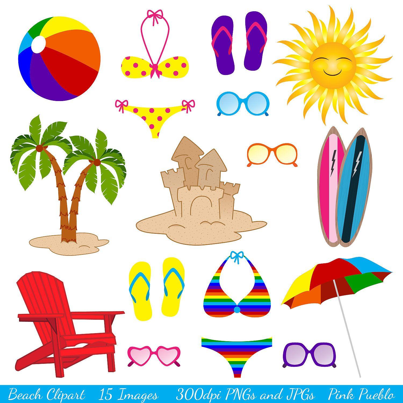 Beach Clipart Clip Art, Summer Vacation Travel Clipart Clip.