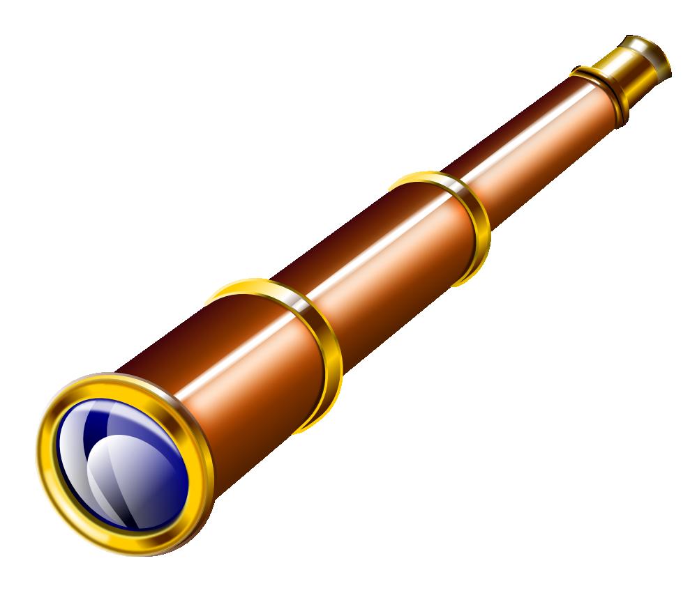 Pirate Telescope Clipart.