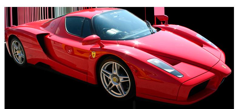 Red Enzo Ferrari Super Car PNG Clipart.