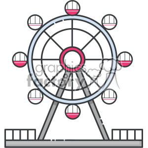 Ferris wheel clip art vector images clipart. Royalty.