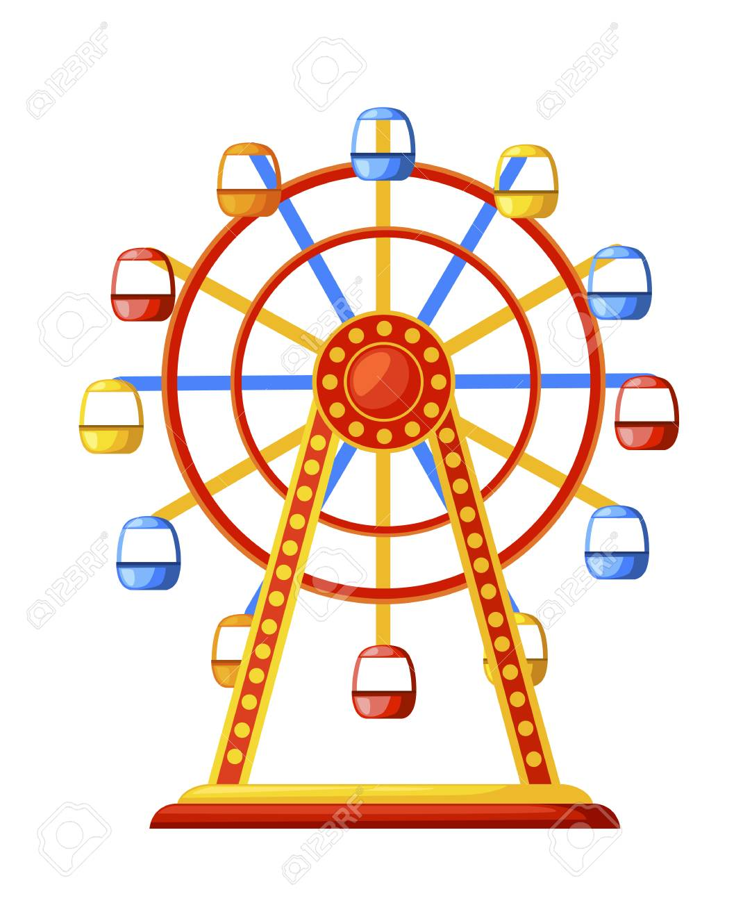 Silhouette colorful ferris wheel Amusement park concept..