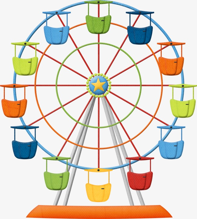 Ferris Wheel, Wheel Clipart, Colorful PNG Transparent Image and.