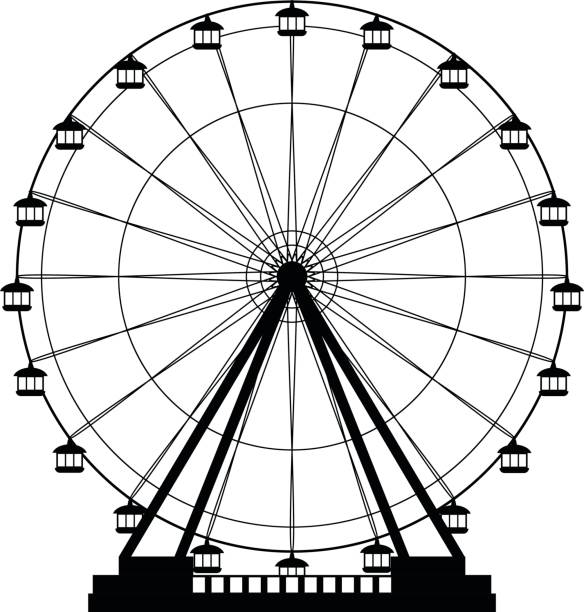 Best Ferris Wheel Illustrations, Royalty.