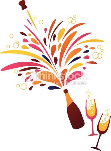 Clipart Champagne Anniversaire.
