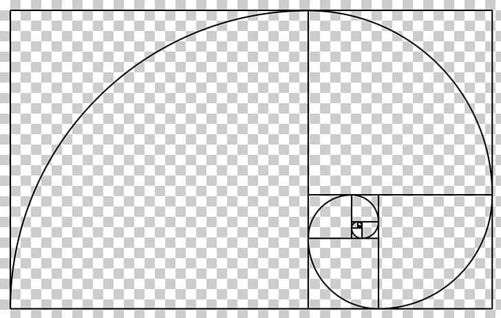 Golden ratio Golden spiral Fibonacci number, Mathematics PNG.