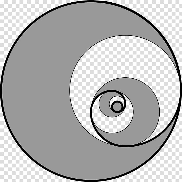 Circle Golden spiral Fibonacci number Golden ratio, circle.