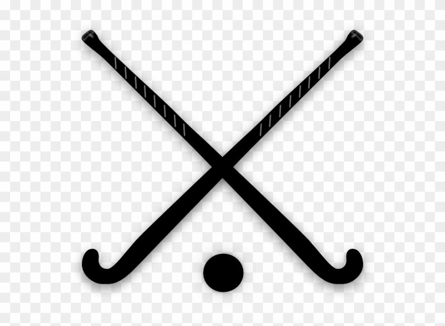 Crossed Field Hockey Sticks Clip Art.