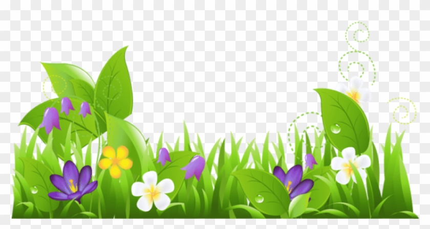 Free Png Grass And Flowers Png Images Transparent.