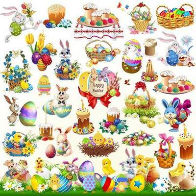 Easter clipart 7 psd ( updated 5 psd ). PSD file free.
