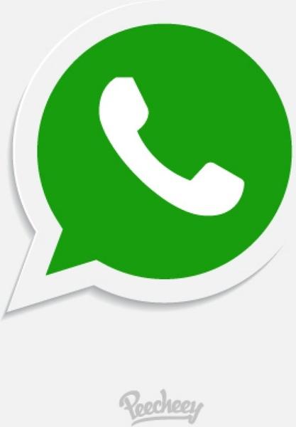 Whatsapp icon Free vector in Adobe Illustrator ai ( .ai.