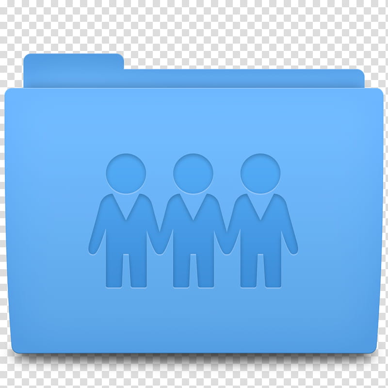 Accio Folder Icons for OSX, Sharepoint, blue file.