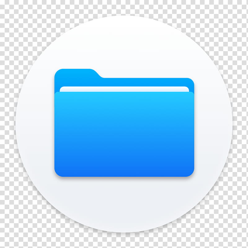Clay OS A macOS Icon, Files, blue folder art transparent.