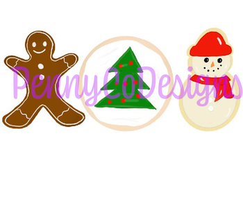 Christmas Cookie PNG file Clip Art.