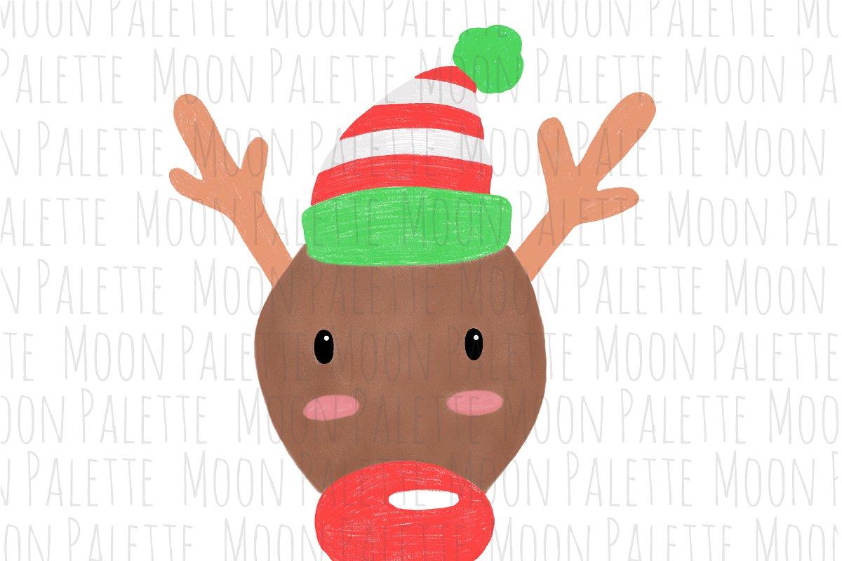 Reindeer Sublimation Clipart PNG.