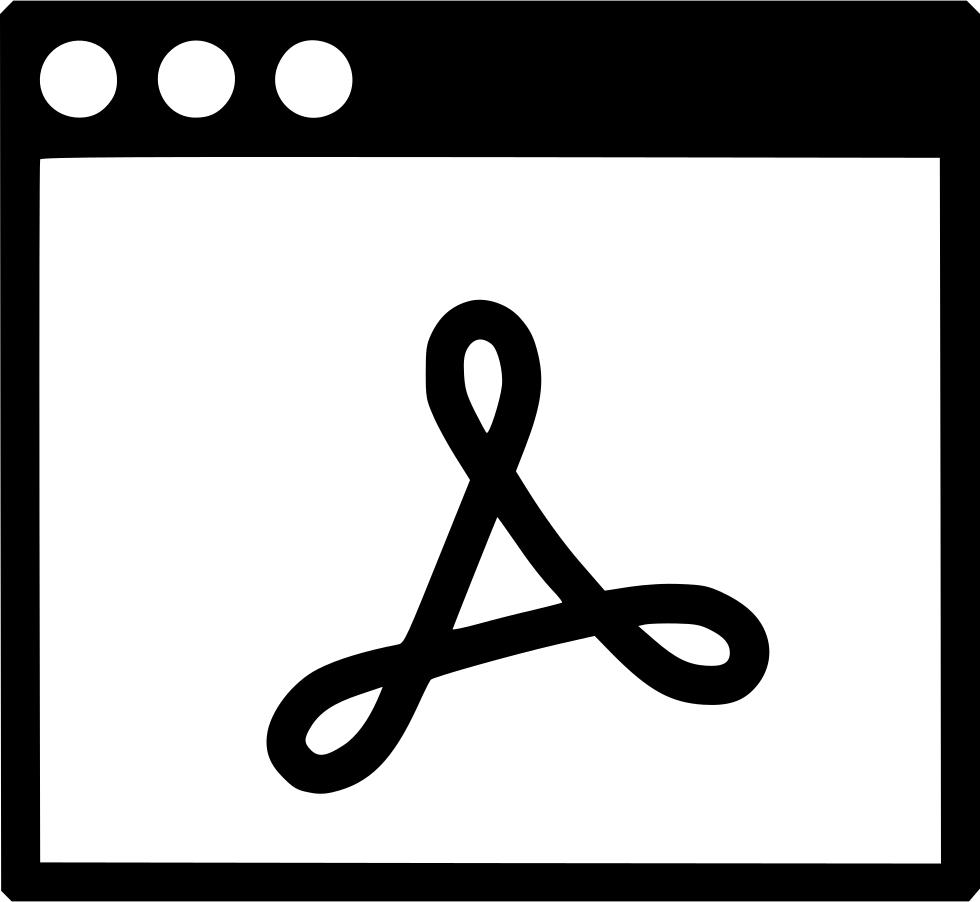 Window Adobe Pdf Reader Svg Png Icon Free Download (#545454.