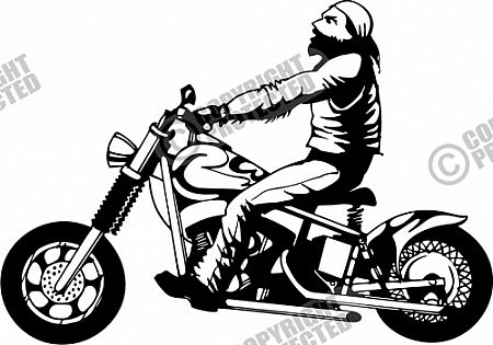 Free Sample Motorcycle Illustrative Style Vector Clipart.