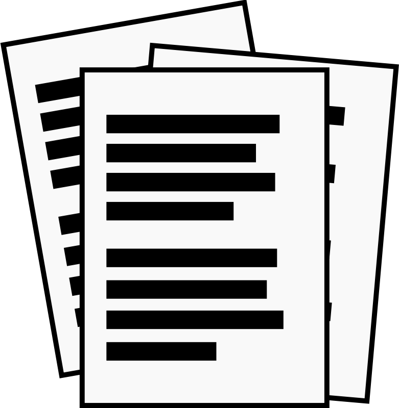 Report clipart important document, Report important document.