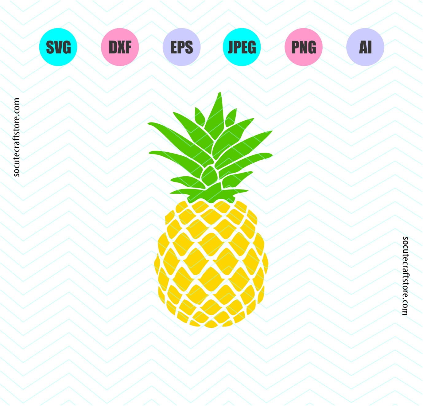 Pineapple Svg, Pineapple SVG File, DXF File, PNG File, Clipart, Digital Cut  Files, Cricut explore, Silhouette cameo.