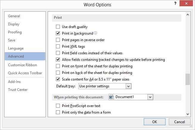 Images Won\'t Print (Microsoft Word).