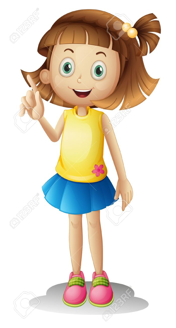 Clipart fille 1 » Clipart Station.