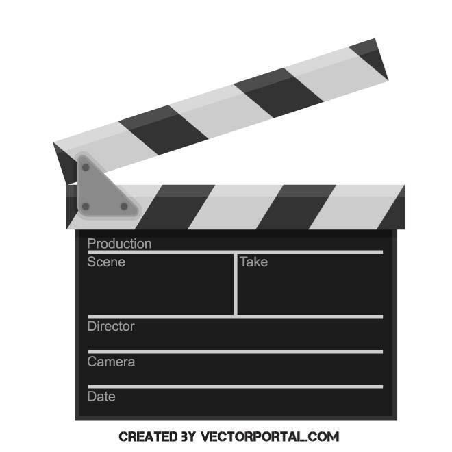 Filmklappe clipart 8 » Clipart Station.