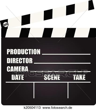 Filmklappe Clipart.