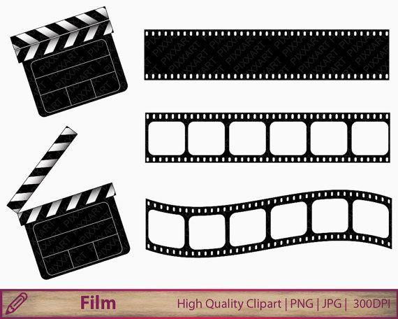 Film Clipart, Filmklappe ClipArt, Filmstreifen Clipart, Clapboard.