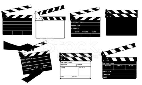 Filmklappe premium clipart.
