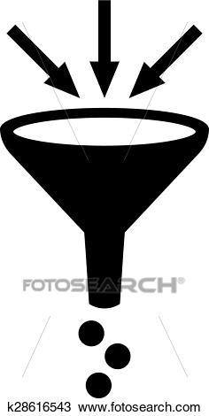 Filter funnel symbol Clipart.