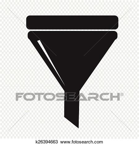 Filter icon Clipart.