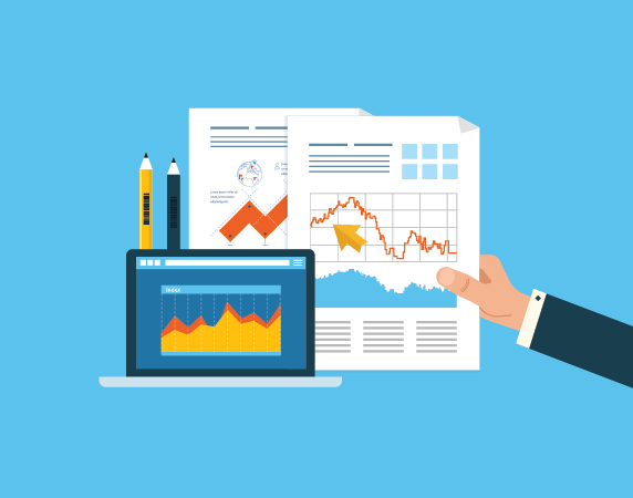 financial report vector clipart Financial statement analysis.