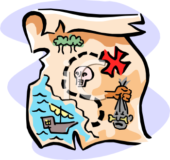 Find Clipart Map Image Treasure.