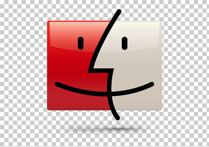 Rectangle symbol, Finder, square red and white logo.