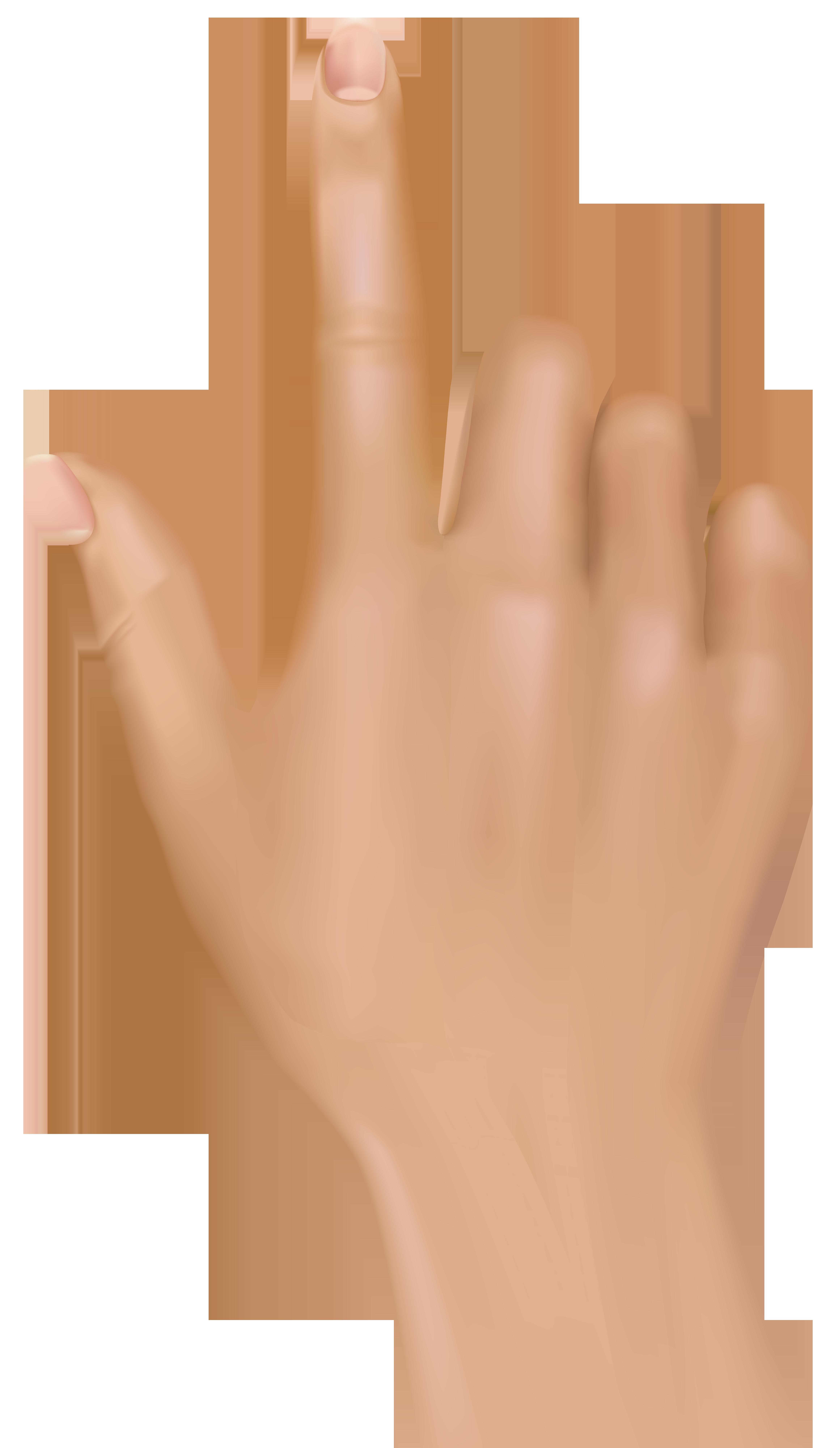 Tuching Finger Hand PNG Clip Art.