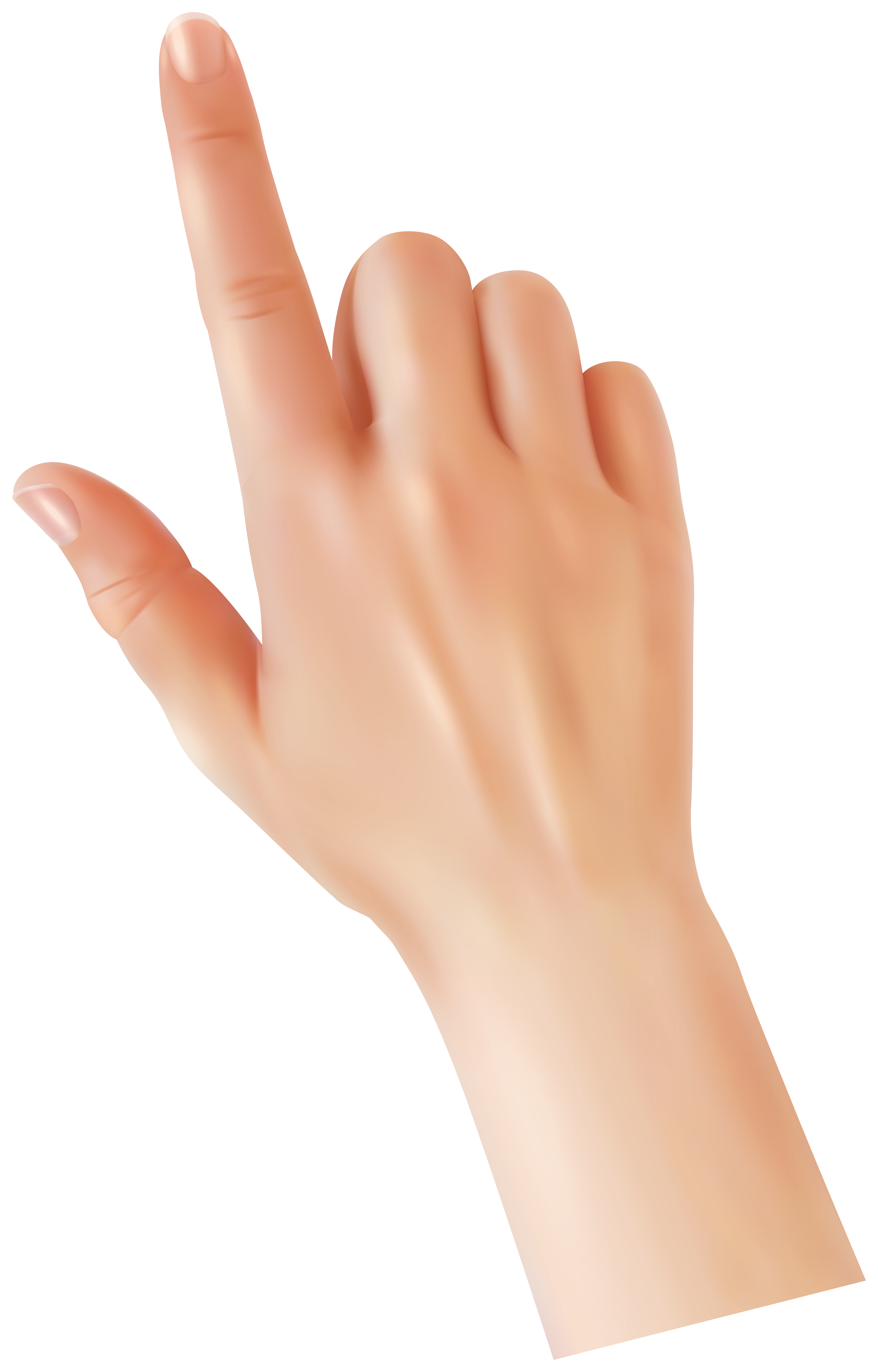 Hand with Touching Finger PNG Clipart.