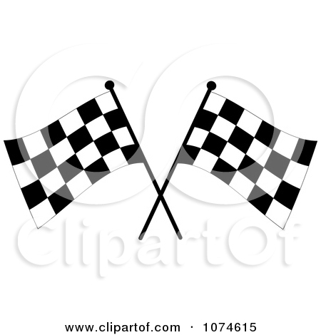 Clipart Silhouetted Speedway Woman Holding A Checkered Flag.