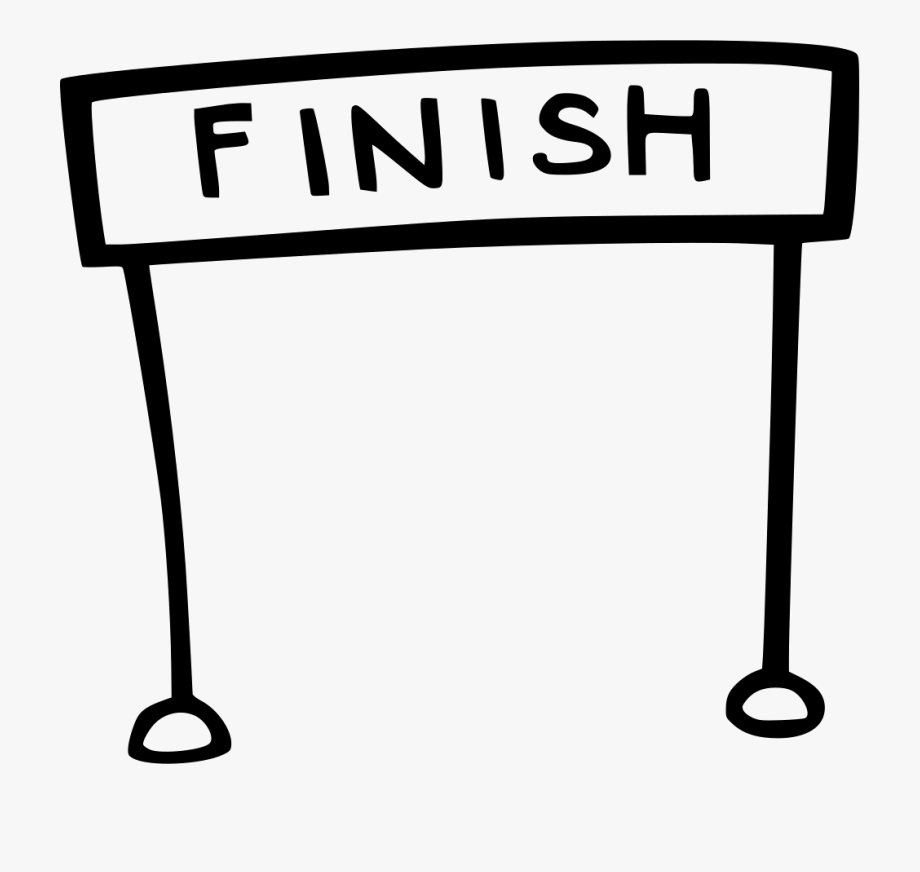 Clip Freeuse Library Finish Line Clipart.