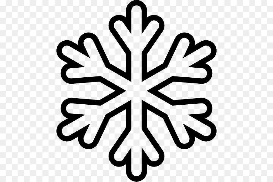 Libro da colorare di Fiocco di neve Disegno Clip art.