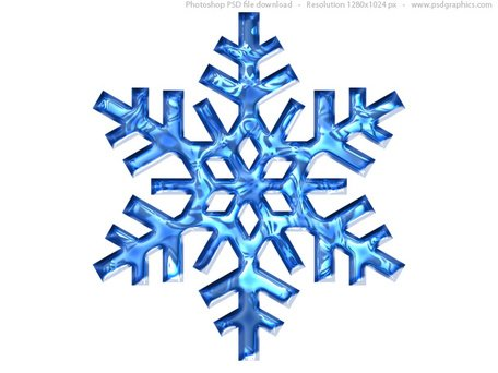 Blue snowflake icon (PSD) Clipart Picture Free Download.