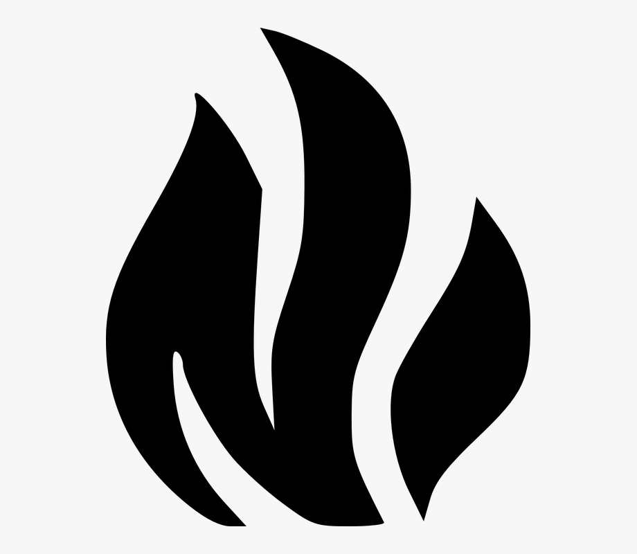Fire Clipart Black And White Transparent , Transparent.