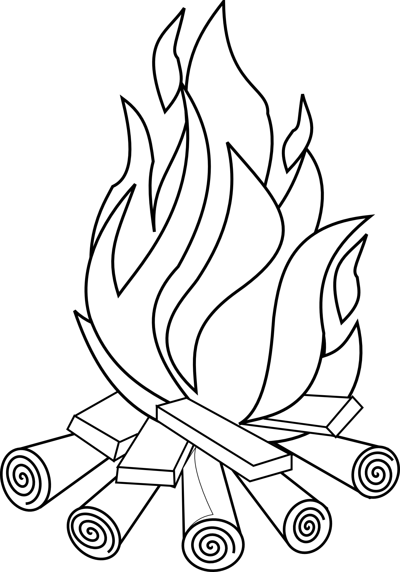 Clipart fire black and white, Clipart fire black and white.