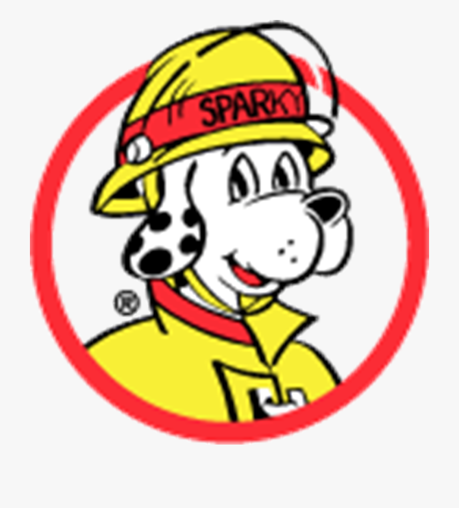 Sparky Fire Dog Safety Clipart.