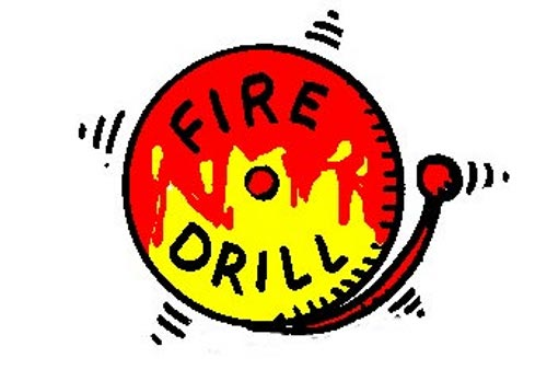Free Clipart Fire Drill.