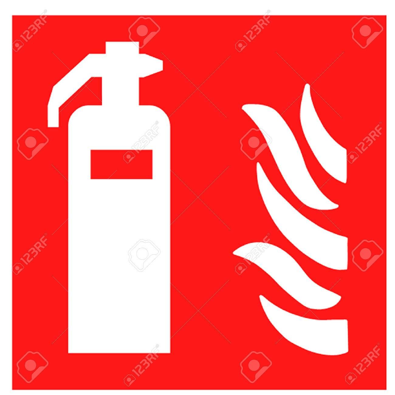 Fire Extinguisher Symbol.