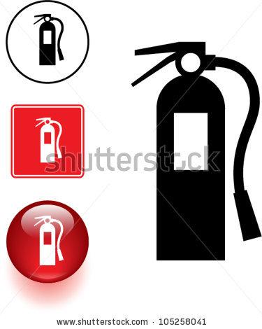 fire extinguisher symbol sign.